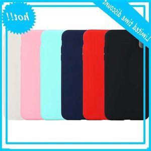 Slim Matte Soft TPU Case For Iphone 12 MINI Pro 11 XR MAX X XS 8 7 6 Galaxy S20 Ultra S10 Plus Note 20 10 Thin Plain Phone Cover Coque