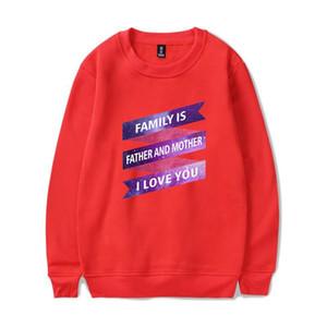 Семья Отец и мать Прохладный Печать Capless фуфаек Женщины / мужчины Толстовка Хип-хоп Прохладный Стиль одежды