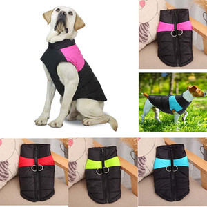 New Arrival Dog clothes Autumn Winter Warm Waistcoat Pet Dog Vests Coats with Leashes Rings Pet Dog Clothes