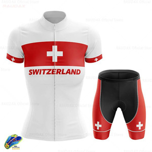 Cycling Clothing Switzerland Women Cycle Jersey Set Short Sleeve Female MTB Uniform Summer Wear Road Bike Skinsuit Ropa Ciclismo