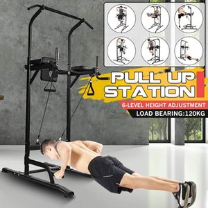 Fitness Station Pull Up Bar Dip Station Horizontal Bar Chin Up Power Tower Fitness Training Equipment for Home Gym Exercise