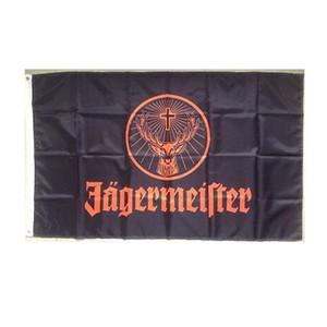 Jagermeister-Flagge Qualitäts-3x5 FT Wein Banner 90x150cm Festival-Party-Geschenk 100D Polyester Indoor Outdoor Printed Flaggen und Banner
