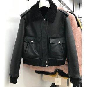 Ein neues schwarzes Pelz 2020 Kurzer Absatz Wollpelzmantel weiblicher Winter warm und cooler Mode PRGRH KOT FENLE WRM ND FSHION1
