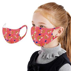 Reusable 3d Fabric Children Face Mask Boys Girls Turban Stylish Fashionable Neutral Earloop Seamless Washable Mask Protection yxljzD