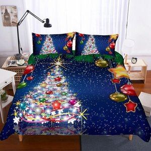 Christmas Print Bedding Set Duvet Cover Pillowcase Comforter Cover Sets Bedclothes Twin Full Queen King Size 2 3pcs 3D