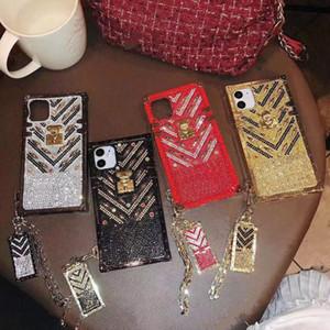 Luxurious Design Rhinestore Bling Back Cover for iPhone 12 11 12pro 11pro 12mini X Xs Max Xr 8 7 Plus Diamond Shiny Mobile Phone Case