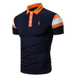 2020 New Summer Men Polo Fashion Solid Color Polo Shirts Short Sleeve Men Slim-fit Cotton Lapel Polo Mens Clothing