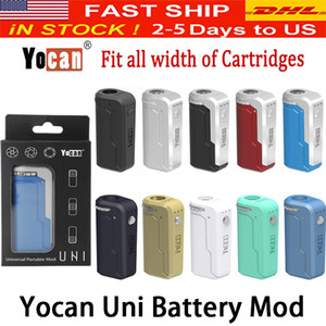 Yocan UNI Boîte Mod 650mAh 10s Préchauffez VV variable Volta Taille réglable Diamètre Porte-Fit Tous Atomiseur 10 Couleur PK Vmod Palm
