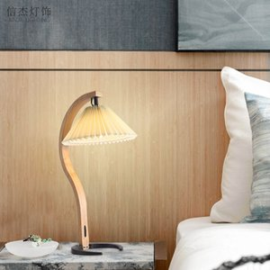 Современный металл Деревянный стол свет Ресторан Бар Вилла Гостиная Спальня прикроватный Reading Настольная лампа TA258
