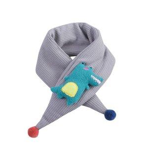 FREE OSTRICH Kids Girl Boy Cartoon Dinosaur Shawls Scarves Winter Warm Plush Neckerchief Child Kids Fashion Fur Scarves Gift