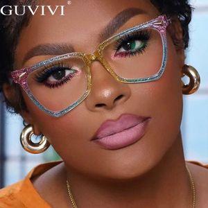 حجم السوبر مثير القط نظارات الكلاسيكية بطريقة شفافة الأزرق حجب المرأة خفيفة نظارات النظارات البصرية