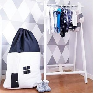 Home Large High Quality Canvas Organizer Storage Bag Clothes Packaging Toy Packing Bag Clothing Luggage For Blanket Bedding