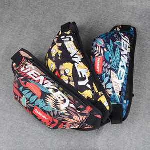New Waist Bag Men Graffiti Chest Bag For Men Oxford Hip Bag Luminous Hip High Capacity Bum Women Shoulder Kidney