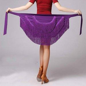Latin Dance Skirt For Women Fringe Tassel Hip Scarf Latin Dancing Skirt Wrap Ballroom Competition Practice Dress