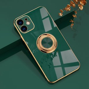 Luxury Plating TPU Metal Ring Case For coque iPhone 11 Pro Max XS XR 7 8 Plus iPhone11 iPhone XS Soft Phone Cover