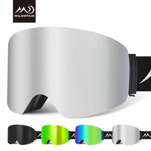 WILDMTAIN Snowboarding Ski Glasses Man Women Anti-fog Premium Snow Ski Goggles UV Protection Winter Sports Goggles Gafas Ski 201022