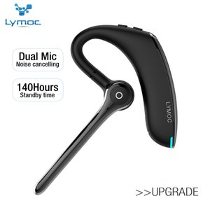 Lymoc Bluetooth V5.0 Headphones HD Stereo Sports Wireless Earphones Handsfree Earhook with Dual Microphone for Busines Driving