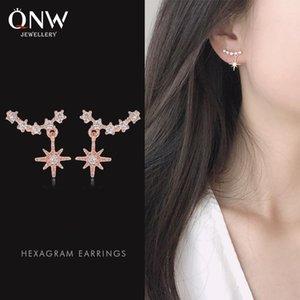 temperamento caldo tempestato di diamanti orecchini stella cuore ragazza fortunata a sei punte orecchini stella carino tutto-fiammifero orecchini Pozi