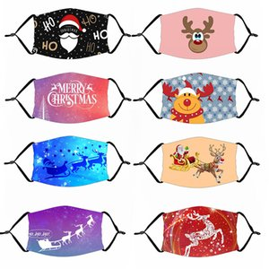 Christmas Mask Santa Claus Elk Merry Christmas Decorations for Home 2020 Christmas Ornaments Xmas Gfit Happy New Year 2021 Decor