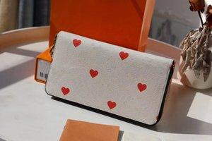 محفظة Zippy On Game Wallet Card Cards Pop Quality Loders عالية مربع القلب M57491 الزهور Dustbag ومع أحدث M80305 Zippy Coin Pur Lqoi