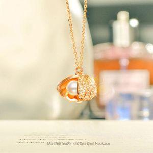 Ataullah Mode Shell Pearl Necklace simple personnalité 925 pendentif en argent Bijoux pour femmes Bijoux chaîne Parti NW079