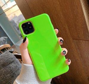 Coque de téléphone couleur fluorescent pour iPhone 11 Promax 6 7 8 Plus x XR XS MAX TPU SOFT SOFT PLAIRE Couleur solide Pure Retour QYLDCQ DH_NICESHOP