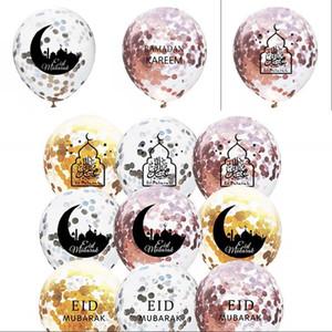 12inches Balonlar Temizle Yuvarlak Pullarda Eid Mubarak Ramazan Kareem Lateks Balon Ay Yıldız Castle Baskılı Parti Kapalı Dekor 0 75fn G2