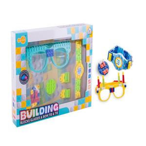 Bausteine Brille Grundplatte Rahmen Ninja Freunde Polizeistadt DIY Toys Brille Ziegel Kind Weihnachtsgeschenk Party