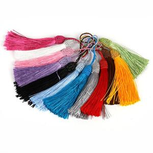 10pcs Polyester Silk Tassels Fringe Pendentif DIY Matériau Cordon Tassels Couper les rideaux à la maison Décor Tassels Tassels Accessoires de ruban H bbyfki