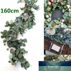 160cm Artificial Eucalyptus Garland Hanging Rattan casamento Verdura Willow folha Tabela Partido Centerpieces Hotel Cafe Decor New