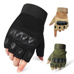 Тактические перчатки Hard Knuckle митенки велосипедов Стрельба Пейнтбол Airsoft Motor Пешеходные Половина Finger перчатки