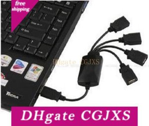 Premium Black High Speed 4 Port USB 2 .0 Octopus-Naben-Teiler für PC Laptop 200pcs DHL Verschiffen