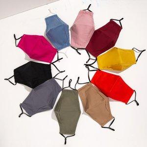 Saf Renk Pamuk Yüz Maskesi PM2.5 Filtre Anti Toz Yüz Kapak Unisex Bay Bayan Blank Ağız Kül Yıkanabilir Yeniden kullanılabilir Yüz Maskeleri GWF2750