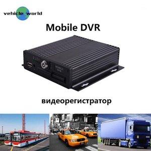 4CH Mini DVR SD MDVR 4 Kanal AHD Araba Taksi Otobüs Mobile MDVR Video Kaydedici Rusça / İngilizce Menü1