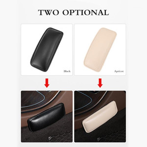 Universal Car seat Foot Support Pillow Leather Leg Pad Knee Pad Thigh Support Pillow For Center Console Car Door Accessories1