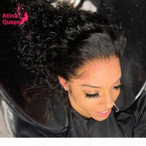 13x6 transparent transparent invisible vague d'eau de dentelle frontale cheveux humains Perruques de cheveux prélucchés HD PU Silk Base de fermeture frontale perruque Remy 130%
