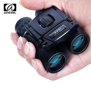 APEXEL Compact Zoom Binoculars Long Range Folding HD Powerful Mini Telescope FMC Optics Hunting Sports Camping LJ201120