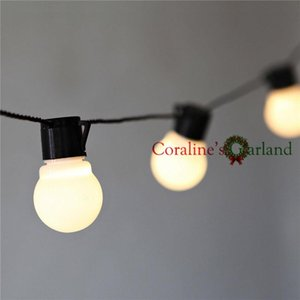 10m Led String Lights With 38pcs G50 White Globe For Indoor Outdoor Garden Party Patio Decoration And Connectable Plug Included Swy sqckGS