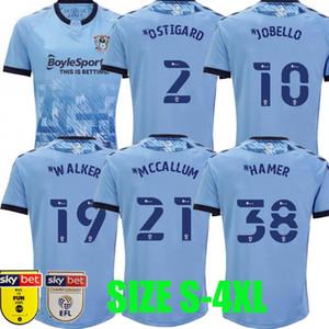 2020 2021 Coventry City Soccer Jerseys Ostigard Jobello Walker McCallum da Costa Hamer 20 21 الصفحة الرئيسية قمصان كرة القدم الأزرق تايلاند حجم S-4XL