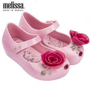 Mini Melissa Beach Sandals Princess Girl Rose Jelly Shoes Sandals 2020 New Baby Shoes Melissa Para Niños Niños No Slip Boys Brown Shoes Baby Nmvn #