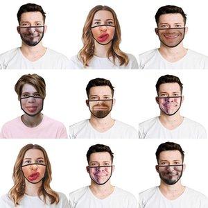 Máscaras trajes de Cosplay Impreso mitad FxWzr de Halloween La mitad de mascarillas para mujer Prijs asombrosos Descuento divertido del Reino Unido para el Face Off divertido 3d Laagste Qdtq