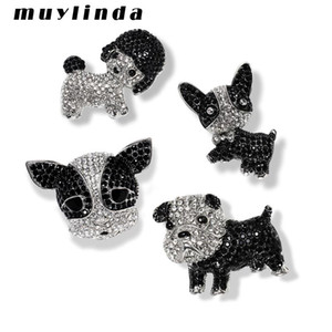 Muylinda Metal Cute Pet Brooches Rhinestone Dogs Brooch Jewelry Human Clothes Clip Jewelry Scarf Badge Pins Accessories