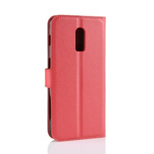 for Oneplus 7 pro 6T Litchi Lychee Wallet PU leather TPU cover cases case for Oneplus 5T 5 6 X