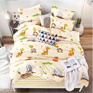 Alanna Partded Solides Home Bedging Set 4-7 шт. Высокое качество Прекрасный узор с звездой Flower Y200417