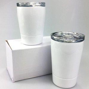 DIY NIÑOS CCA12662 Tumblers de acero inoxidable 304 8oz Acero Niño Agua Sublimación Botella Niños Tazas de leche Vino Tumblers Sea Envío Gafas Qblbk