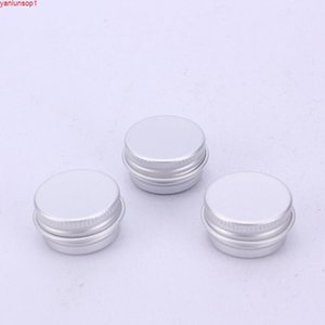 5ml Aluminium Balm Tins pot Jar 5g comestic containers with screw thread Lip Gloss Candle Packaging LX8761shipping