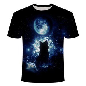 2019 Unisex Women Funny T Shirt Cat 3d Print Summer Casual White Cat Tshirt O Neck Short Sleeve T Shirts Tops Women Clothing jllYtV