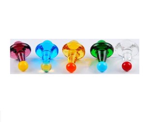2020 Colorful UFO Glass Carb Caps For Quartz Thermal Banger Nails Solid Colored Gyro Carb Cap Diameter 23mm