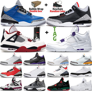 retro 3 basketball shoes Scarpe da basket da uomo Jumpman Sneakers da donna Nero Cemento UNC 4s Neon White Cement 5s Grape 11s Bred 12s University