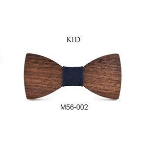 Top Grade Children's Wooden Bow Tie British Style Boys and Girls Children's Wooden Bow Tie Performance Children's Bow Tie 200924